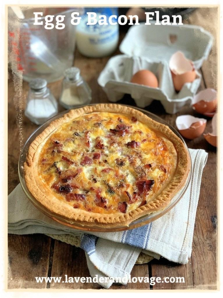Egg & Bacon Flan