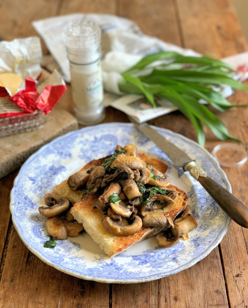 Wild Garlic Mushrooms on Toast