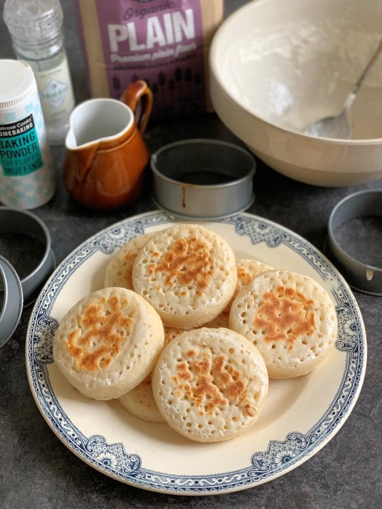 Easy Three Ingredient Sourdough Crumpets