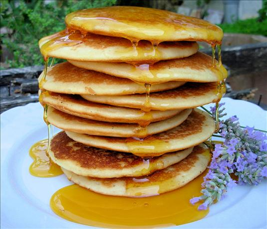 Home-Made Lavender Honey and Pancakes