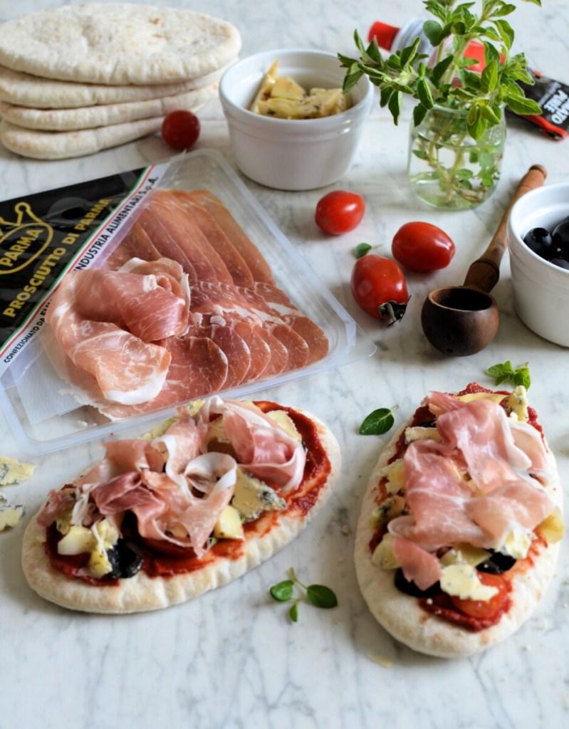 Parma Ham Pitta Pizza