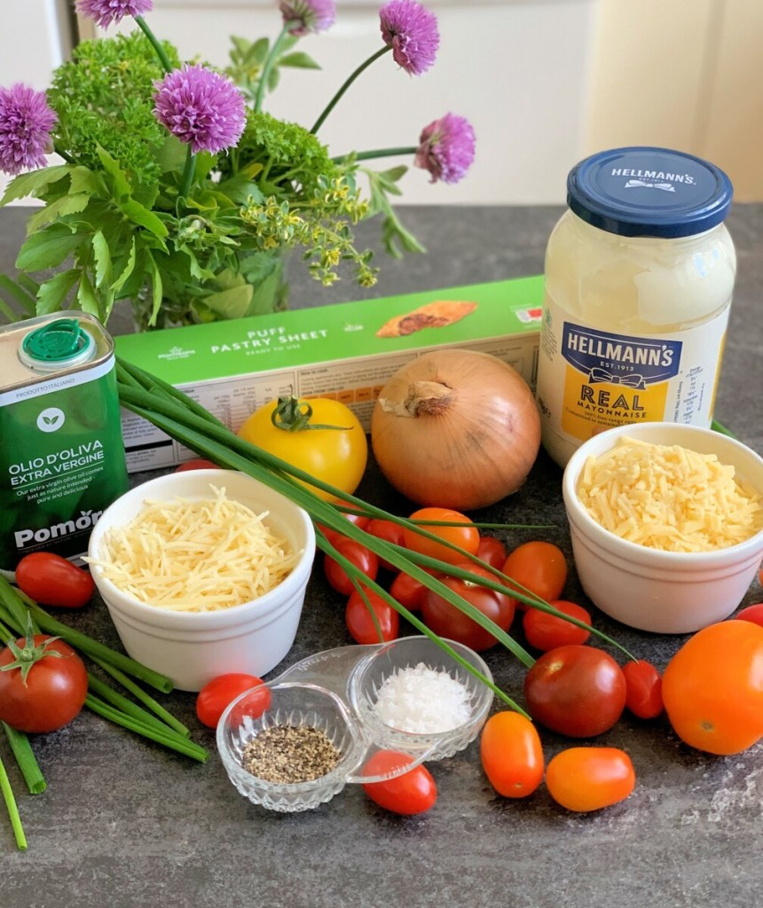Old-Fashioned Tomato Pie Ingredients