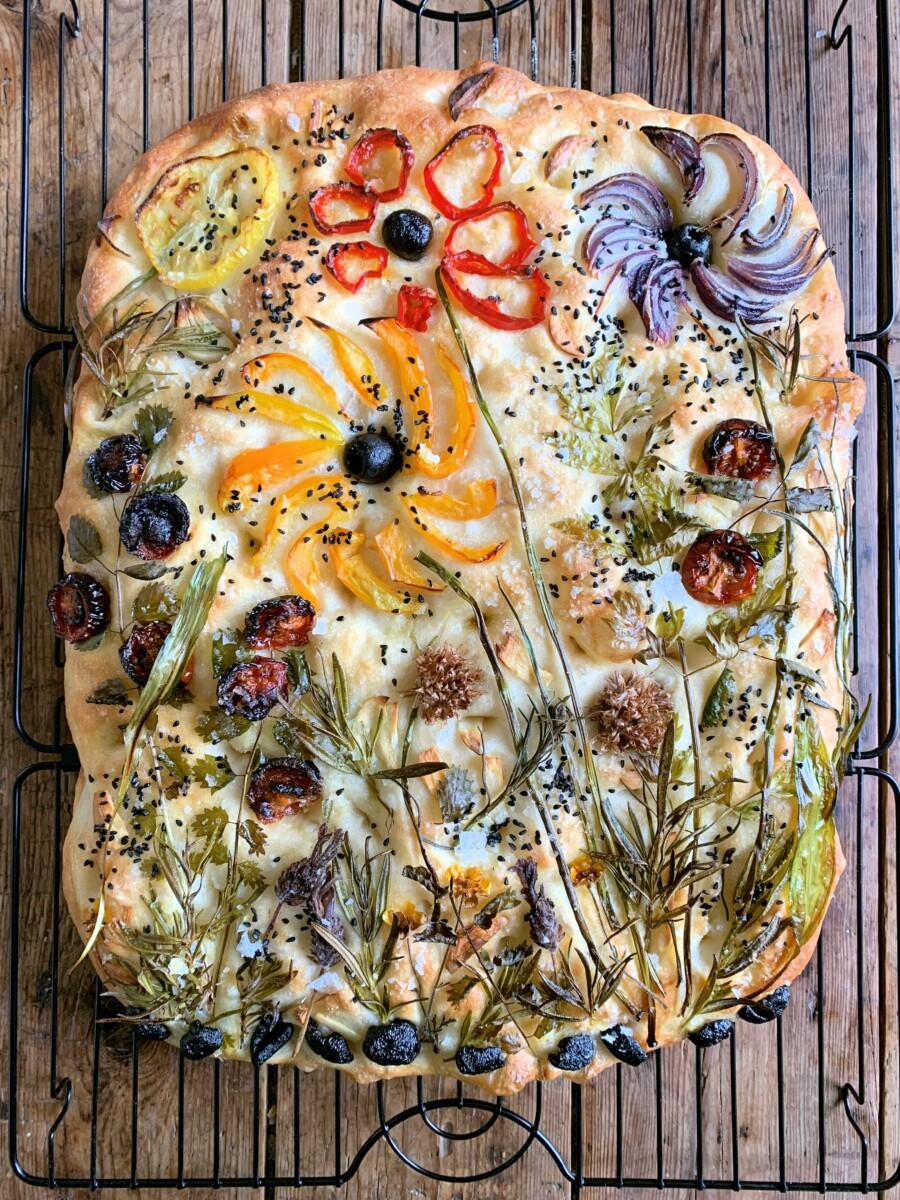 How To Make A Sourdough Focaccia Garden Lavender And Lovage
