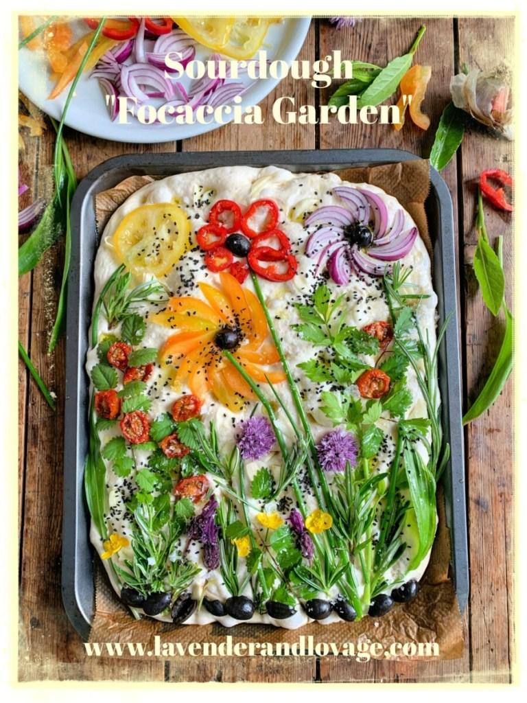 """Sourdough """"Focaccia Garden"""""""