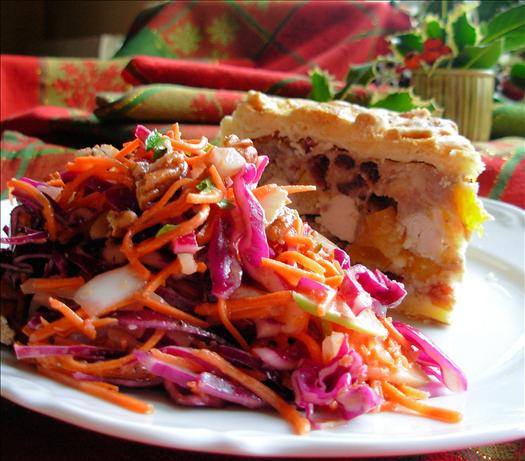 Dazzling Winter Coleslaw ~ Red Cabbage, Apple and Pecan Salad
