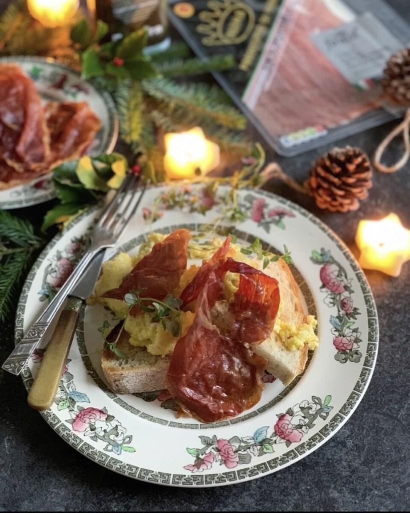 Truffled Scrambled Eggs with Parma Ham