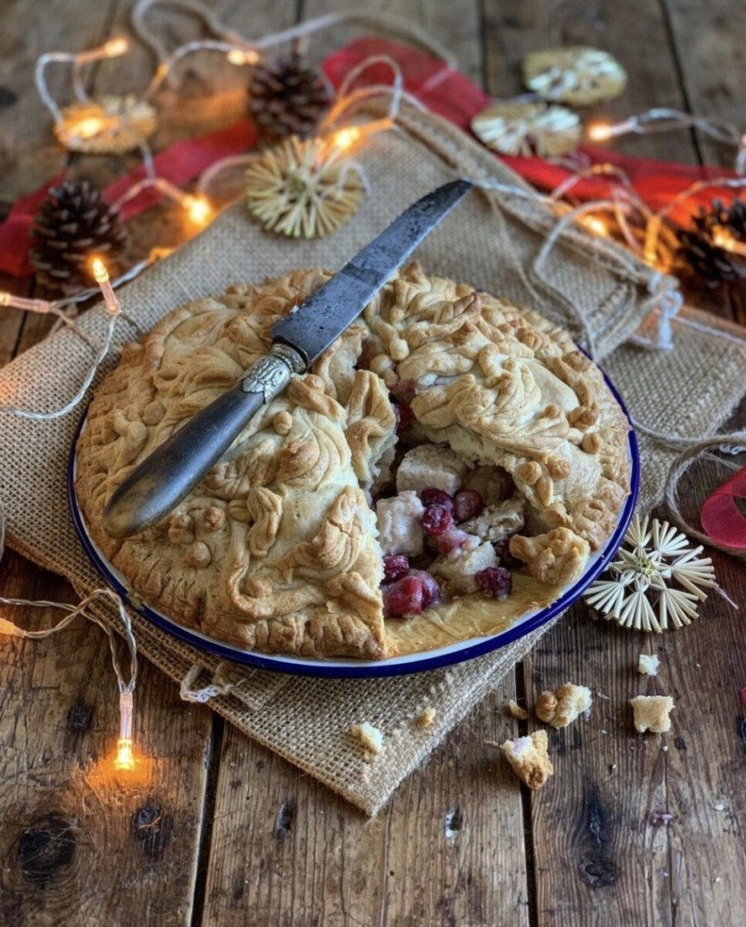 Betwixtmas Pie with Christmas Leftovers