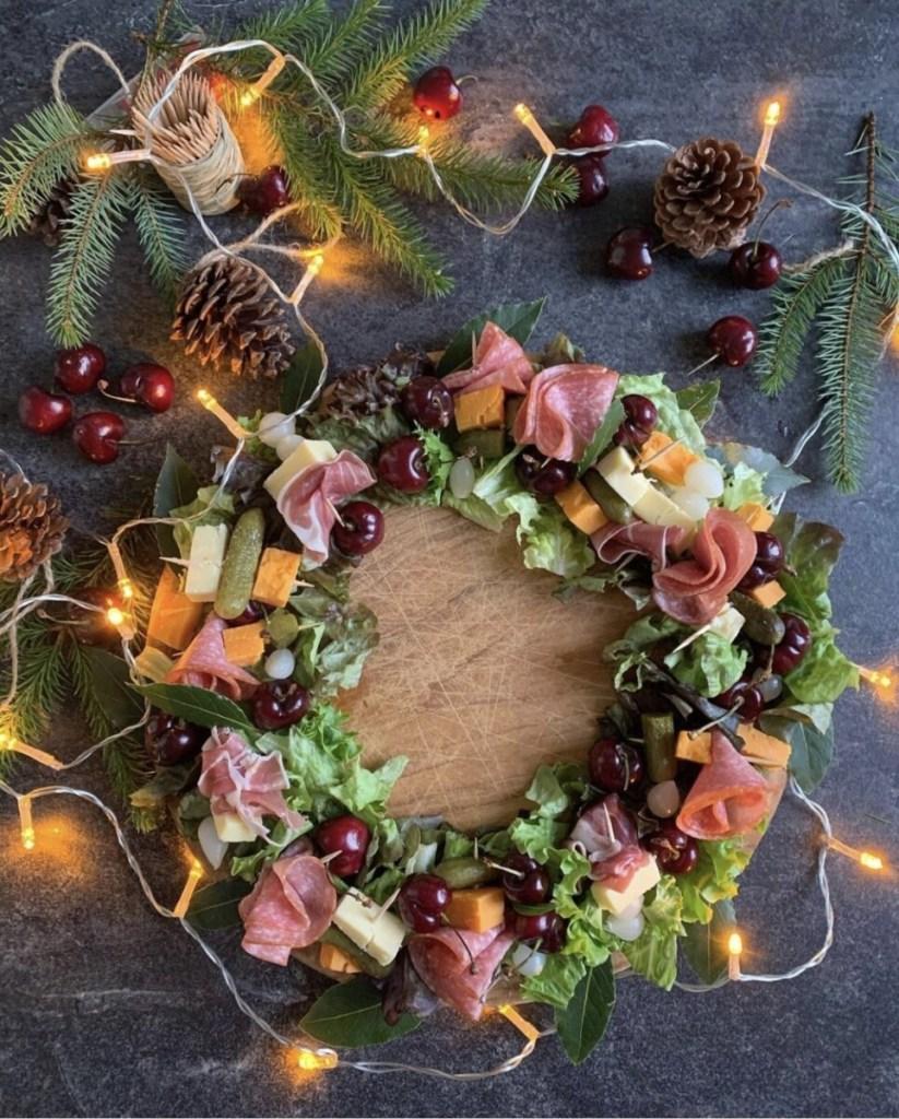 Cheese & Charcuterie Wreath