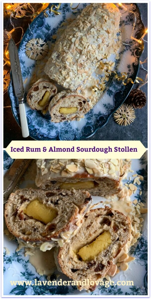 Iced Rum & Almond Sourdough Stollen