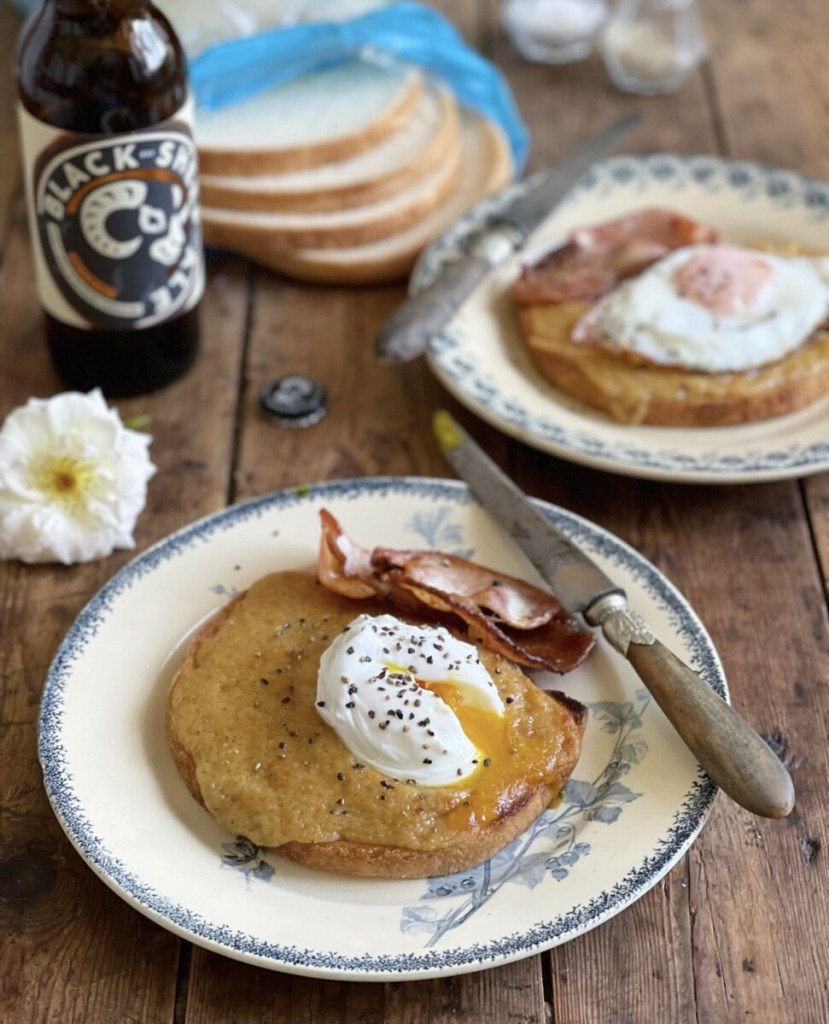 """A """"Buck Rarebit"""" is a rarebit recipe served with an egg on top - usually a poached egg, although a fried egg is also acceptable, with a side accompaniment of crispy smoked back bacon."""