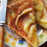 Toast and lemon curd