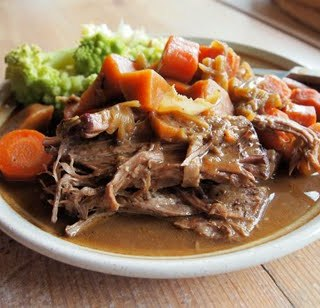 Slow Cooked Brisket of Beef with a Medley of Root Vegetables ~ Slow Sunday ~