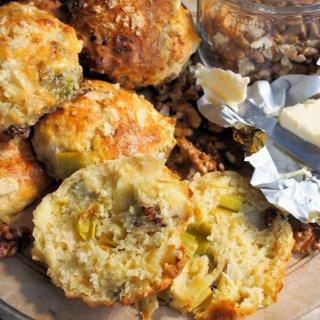 Scones – Wensleydale Cheese, Leek & Walnut Scones for Tea Time Treats