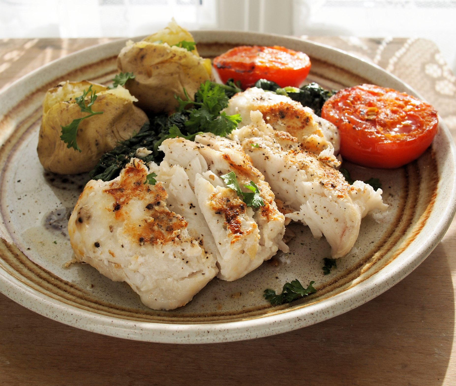 Fish On Friday Pan Fried Garlic And Peppered Hake Fillets