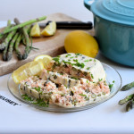 Hot Smoked Salmon and Asparagus Terrine for the Le Creuset Cast Iron Challenge