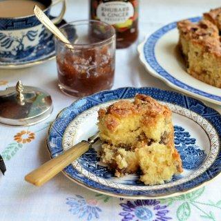 "A ""Secret"" Baked Layer Cake: Scottish Rhubarb & Ginger Crunchy Streusel Cake Recipe"