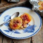 Amaretti Peach Melba Crumble Parcels