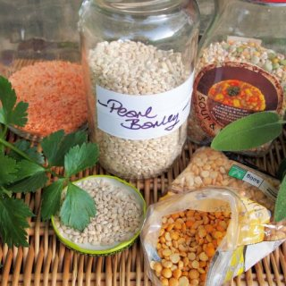 Potage and Pulses for October: Spiced Red Lentil Soup with Frazzled Onions Recipe