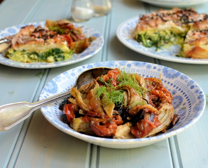 Roast Fennel, Tomatoes and Onions