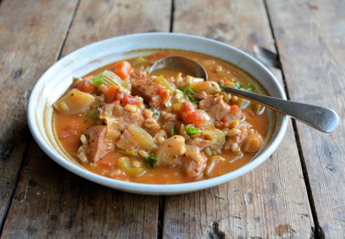Chicken and Pearl Barley Stew