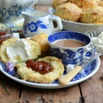 Savoury Cream Tea with Cheese Scones, Herb Cream and Tomato Relish