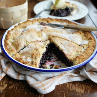 Mum's Bilberry Plate Pie and Clotted Cream