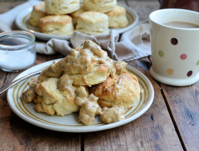 Light & Flaky Buttermilk Biscuits - Fabulous Southern Style Biscuits that are perfect with sausage gravy for breakfast and brunch or Cast Iron Casseroles!