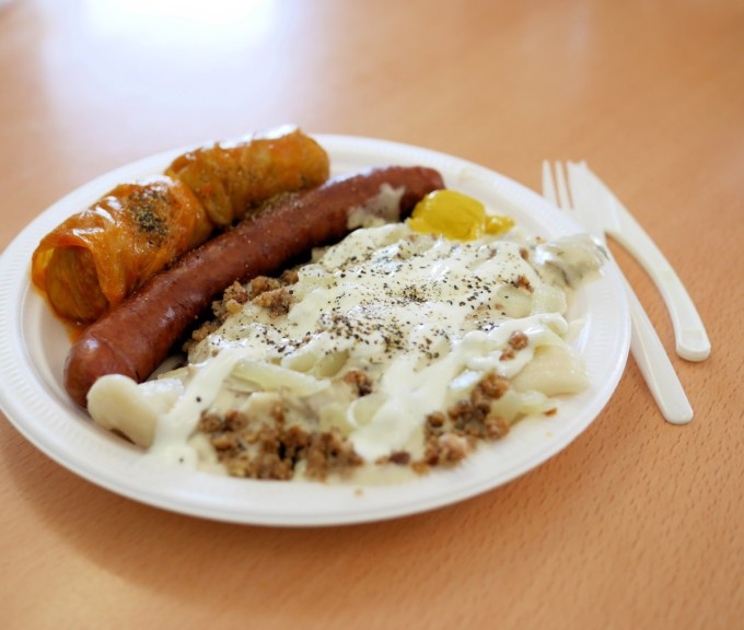 Baba's Perogies – learn to make perogies and cabbage rolls A Saskatchewan institution, Baba's Perogies is Canada's only drive-thru perogy restaurant. A family-owned restaurant, Baba's has a largely Ukrainian kitchen staff that hand-churns out as many as 10,000 perogies, 120 litres of borscht and 3,000 cabbage rolls every day.