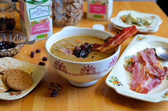 Toppers and Dippers for Lunchtime Soups! Make lunch better by adding toppings and dippers to your bowl of soup, and for January, why not make use of those Christmas Leftovers you may have still kicking around, and add them to a bowl of warm and comforting soup to really make lunch better and special.
