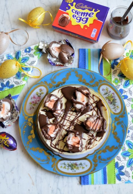 Cadbury Creme egg cheesecake by Georgia's Cakes