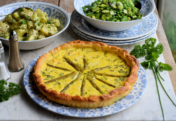 Two Cheese Asparagus Tart