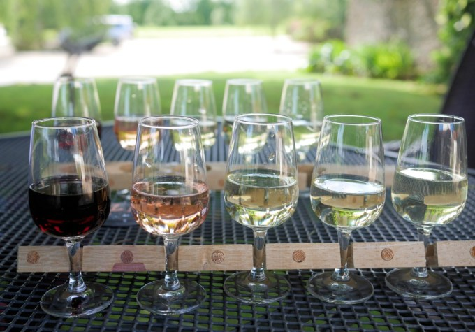 Flight of wines