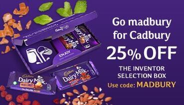 25% off chocolate bars Go Madbury