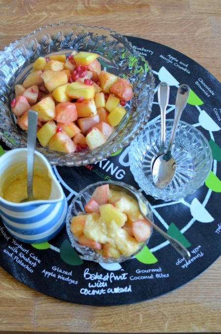 Baked Fruit with Coconut Custard