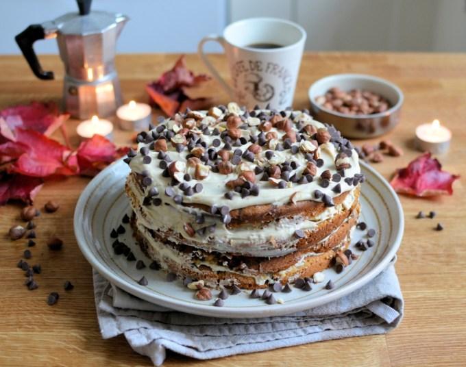 Hazelnut & Chocolate Chip Cappuccino Cake