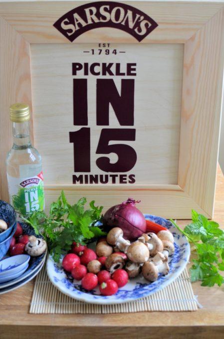 Sarson's Pickle in 15 Minutes