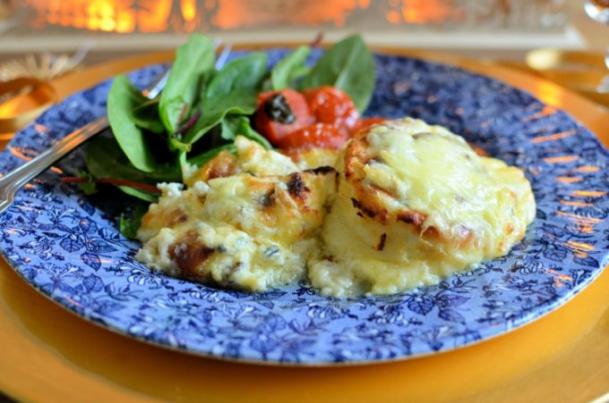 Twice Baked Welsh Cheese Soufflés