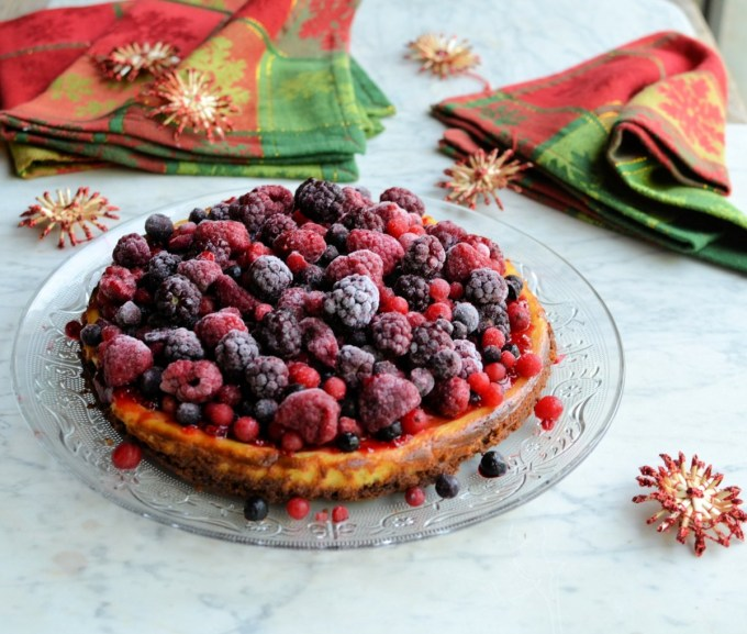 Frosted Fruit Cheesecake
