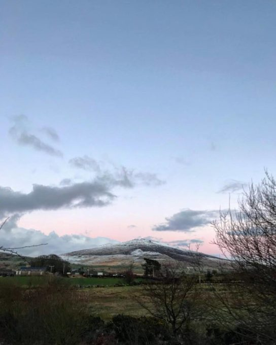 It's a milder day today, and the snow has long disappeared around us leaving just the surrounding mountains and hills with snow capped peaks in the distance. We've had high winds and rain in the night but I'm noticing the mornings are much lighter which makes me feel more spring like!