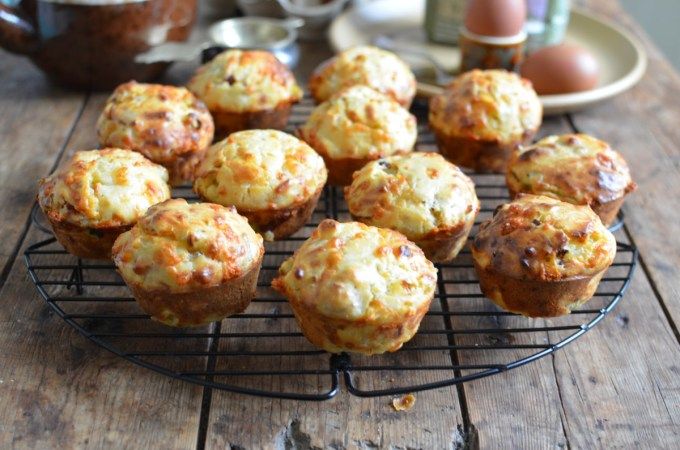 Bacon, Cheese & Onion Spelt Muffins