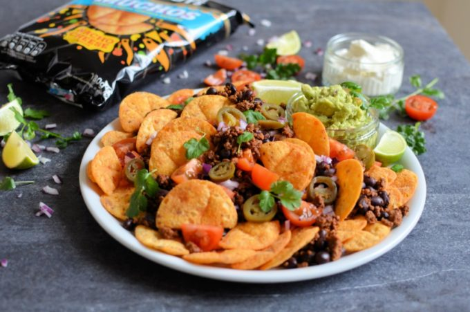 Loaded Beef & Black Bean Nachos