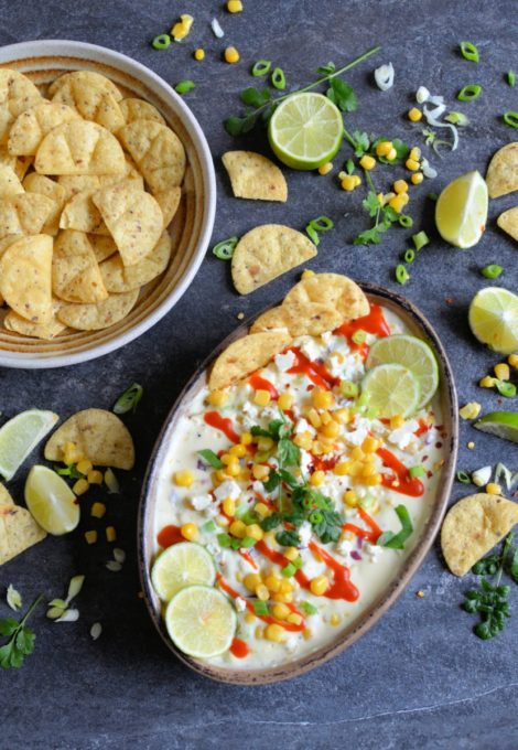 Hot Mexican Street Corn Dip