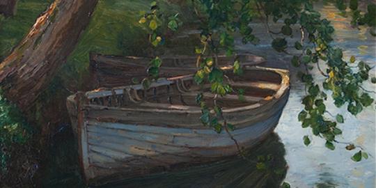 Moored Boats by Harry Van Der Weyden