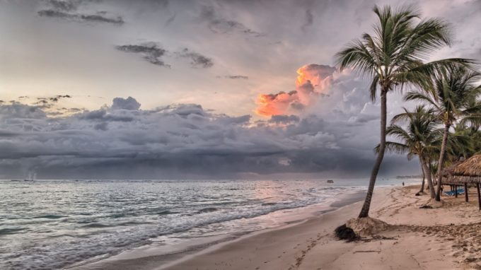 Sunset Beach and Clouds