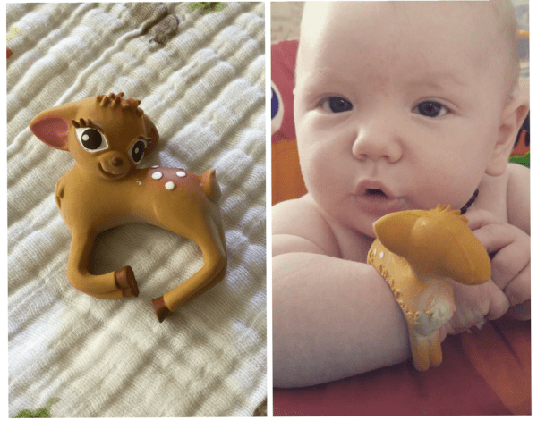 Natural teething options olive the deer