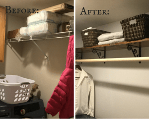 Laundry Room DIY Shelf