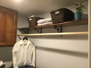 Laundry Room DIY Shelf and Rod