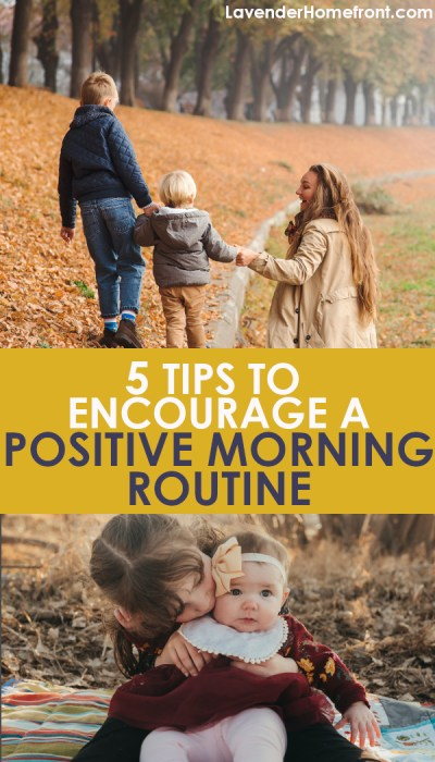 creating positive mornings for kids