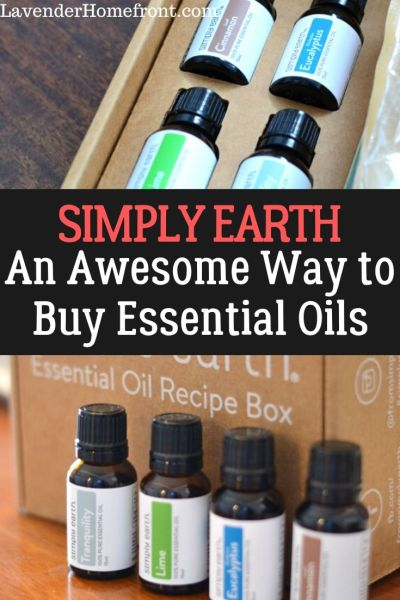 simply earth subscription box for essential oils