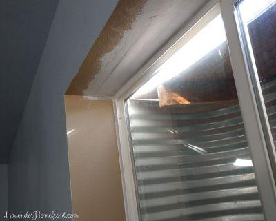 flood damage in window well